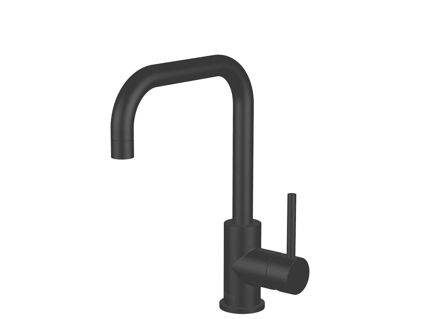 Est Living Design Directory Abey Lucia Square Sidelever Mixer Black 1
