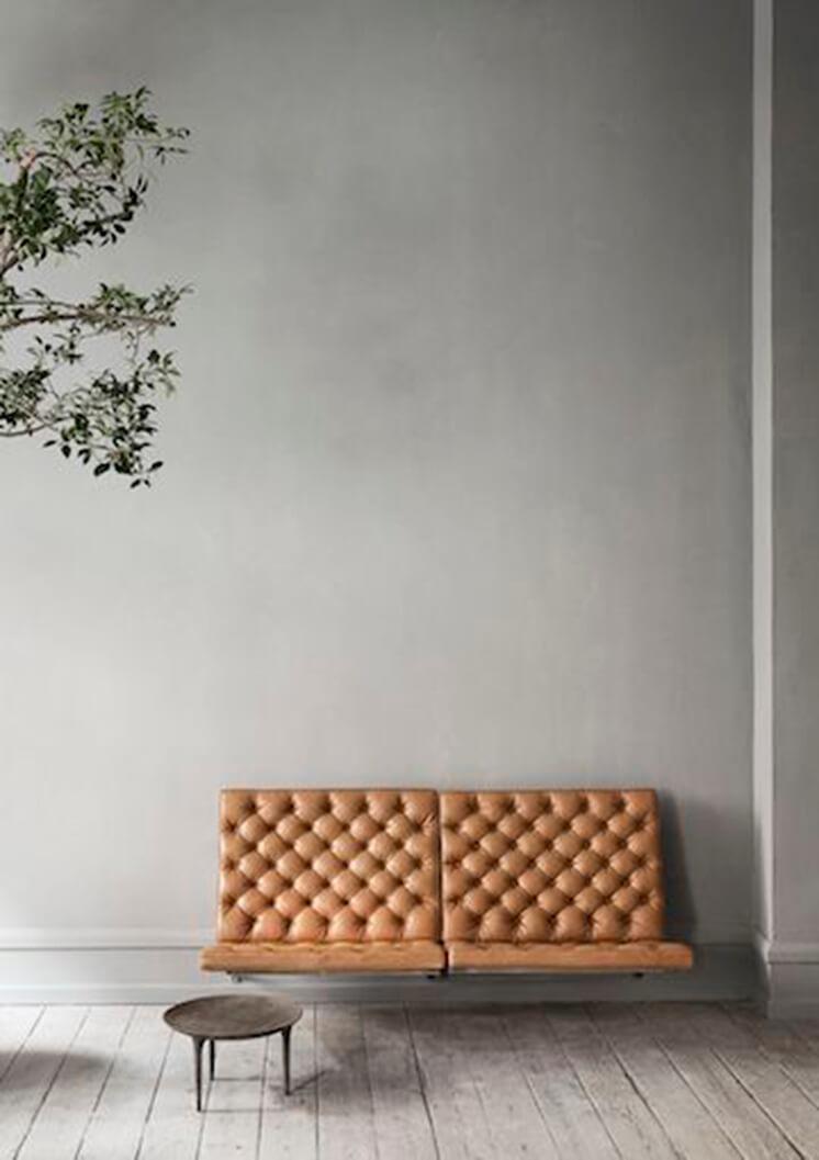 Est Magazine Studio Gustav Poul Kjærholm 2 Seater Leather
