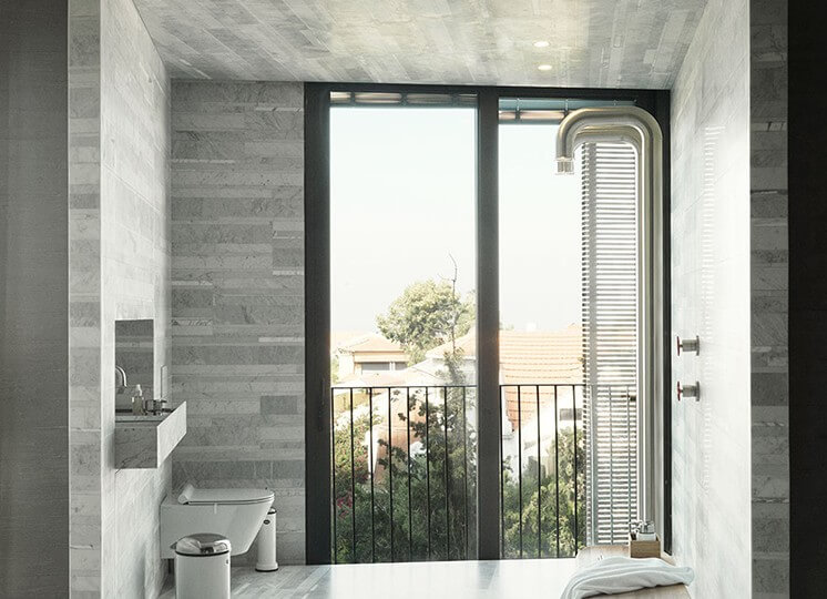 Bathroom | Tel Aviv Apartment by Oren Yonayov