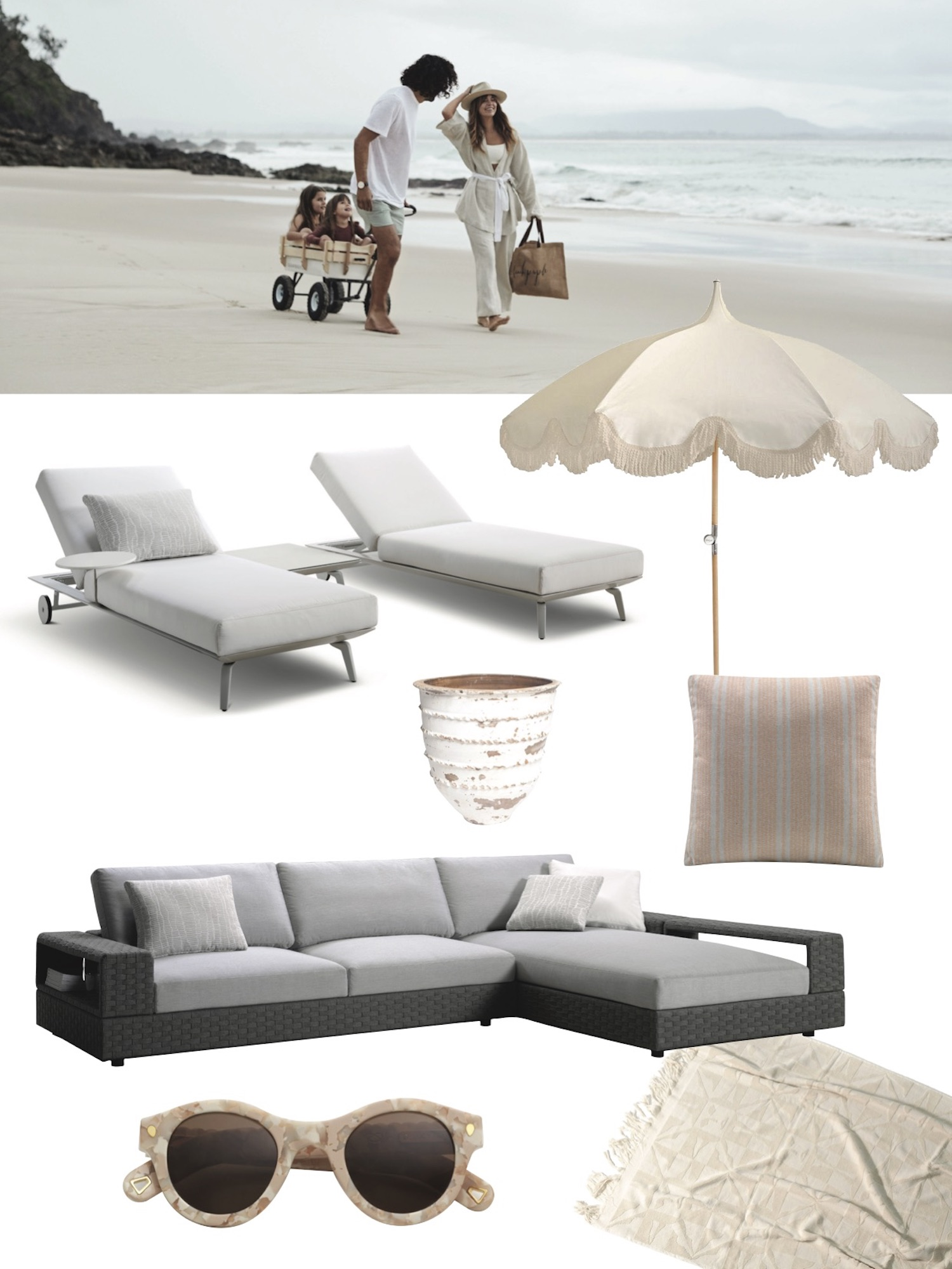 Est Living King Outdoor Collection Beach dragged