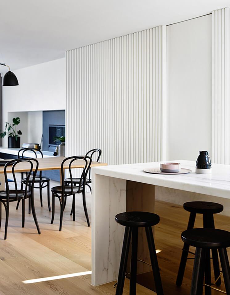 Elwood House Inform Design Est Living Kitchen Living