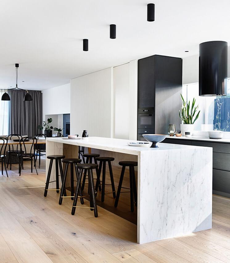 Elwood House Inform Design Est Living Kitchen
