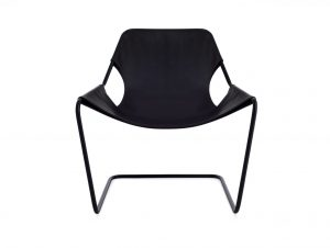 Objekto Paulistano Armchair (Black Frame/Black Leather)