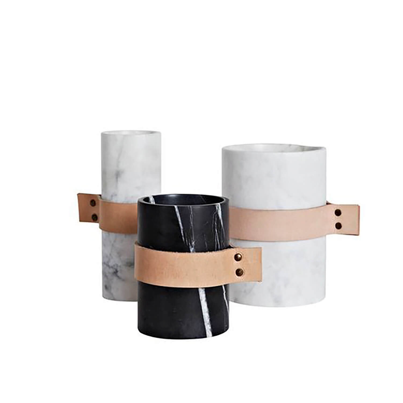 Est Living Strapped Design Covet Scanda Marble Vases