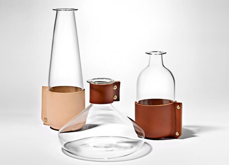 Leather Wrap Glassware