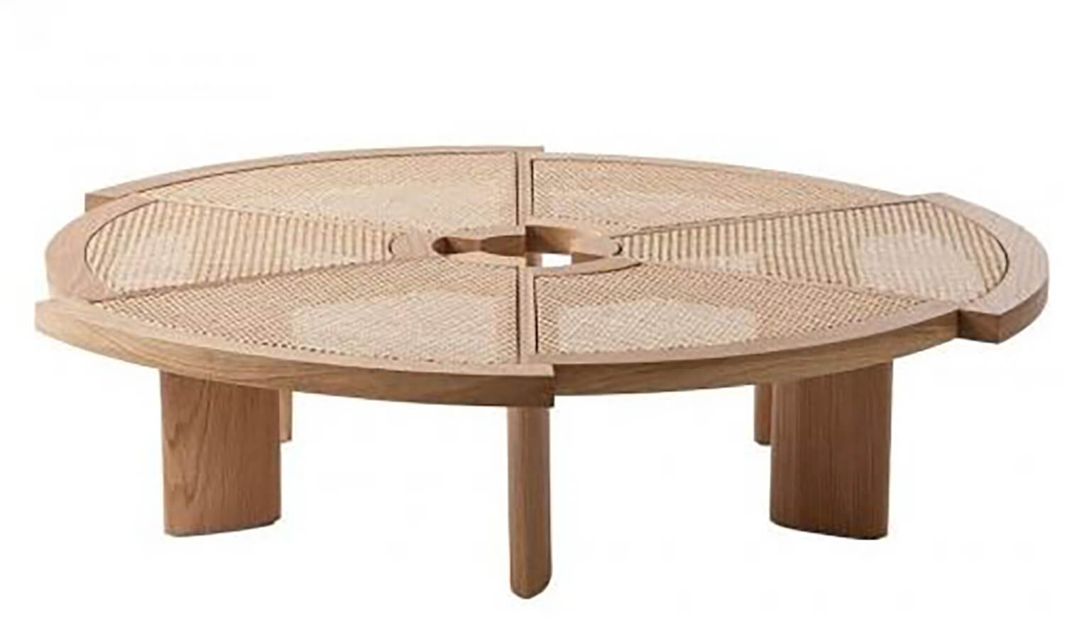 6 Est Living Wickedly Wickered Cassina Rio Coffee Table by Charlotte Perriand