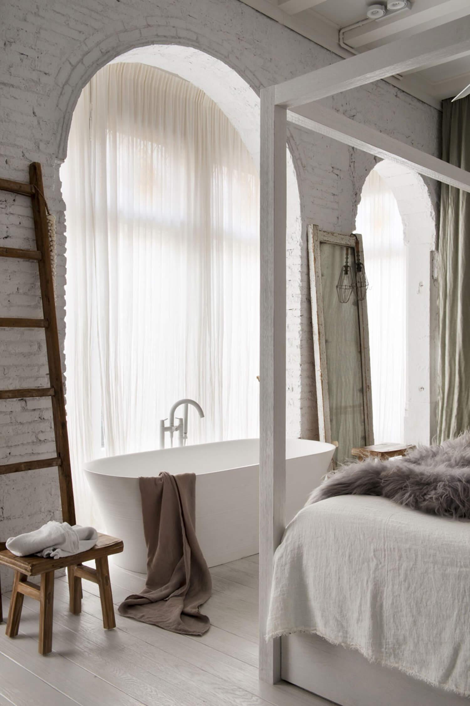 est living barcelona loft serrat tort architects bedroom bath