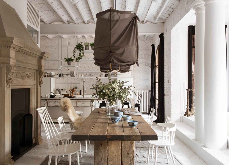 est living barcelona loft serrat tort architects dining table
