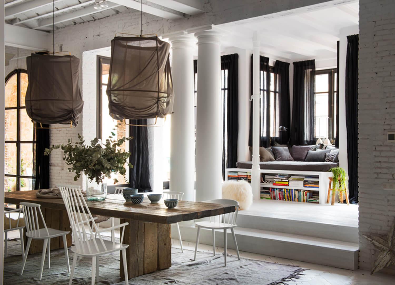 est living barcelona loft serrat tort architects dining