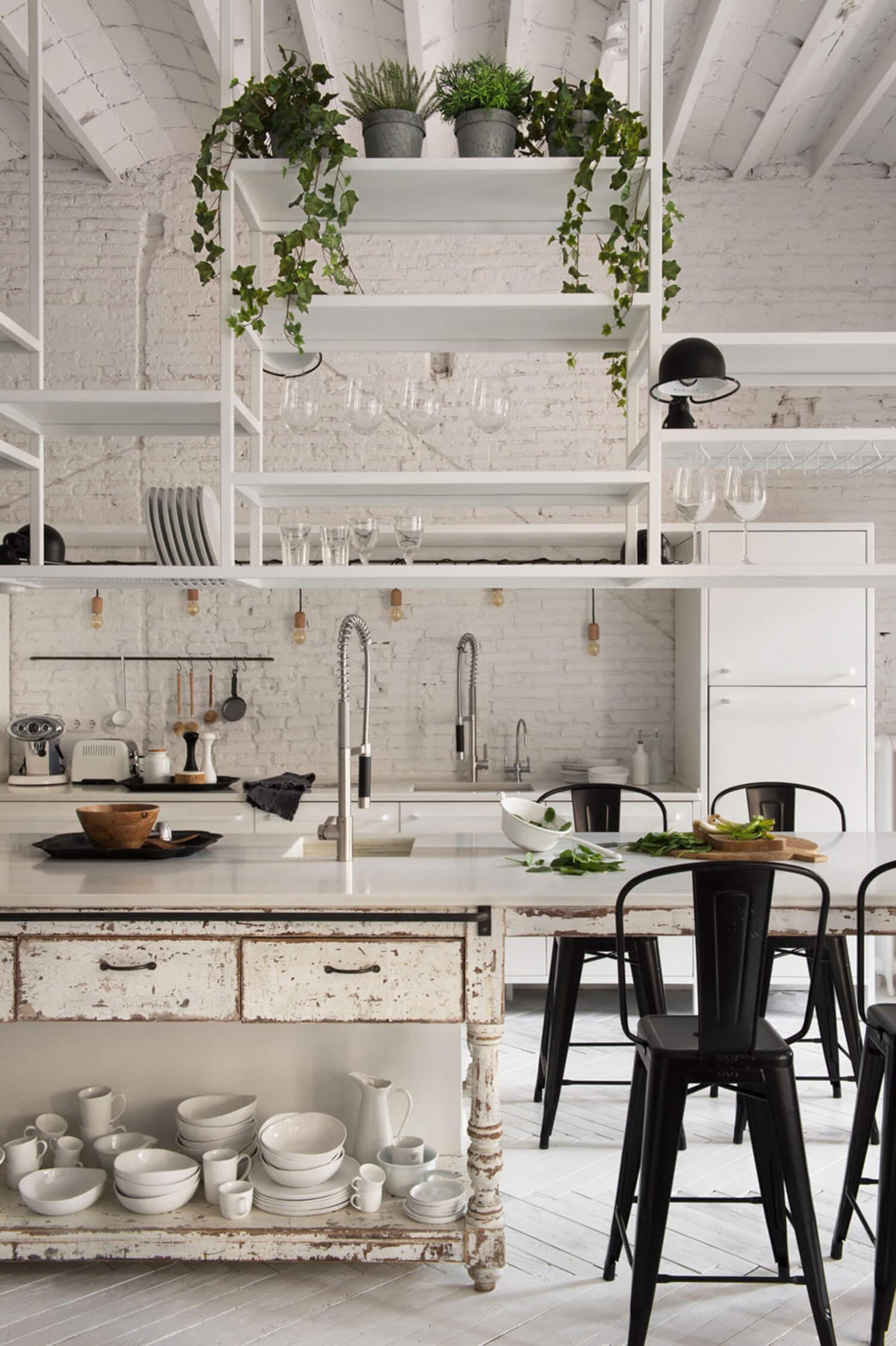 est living barcelona loft serrat tort architects island bench