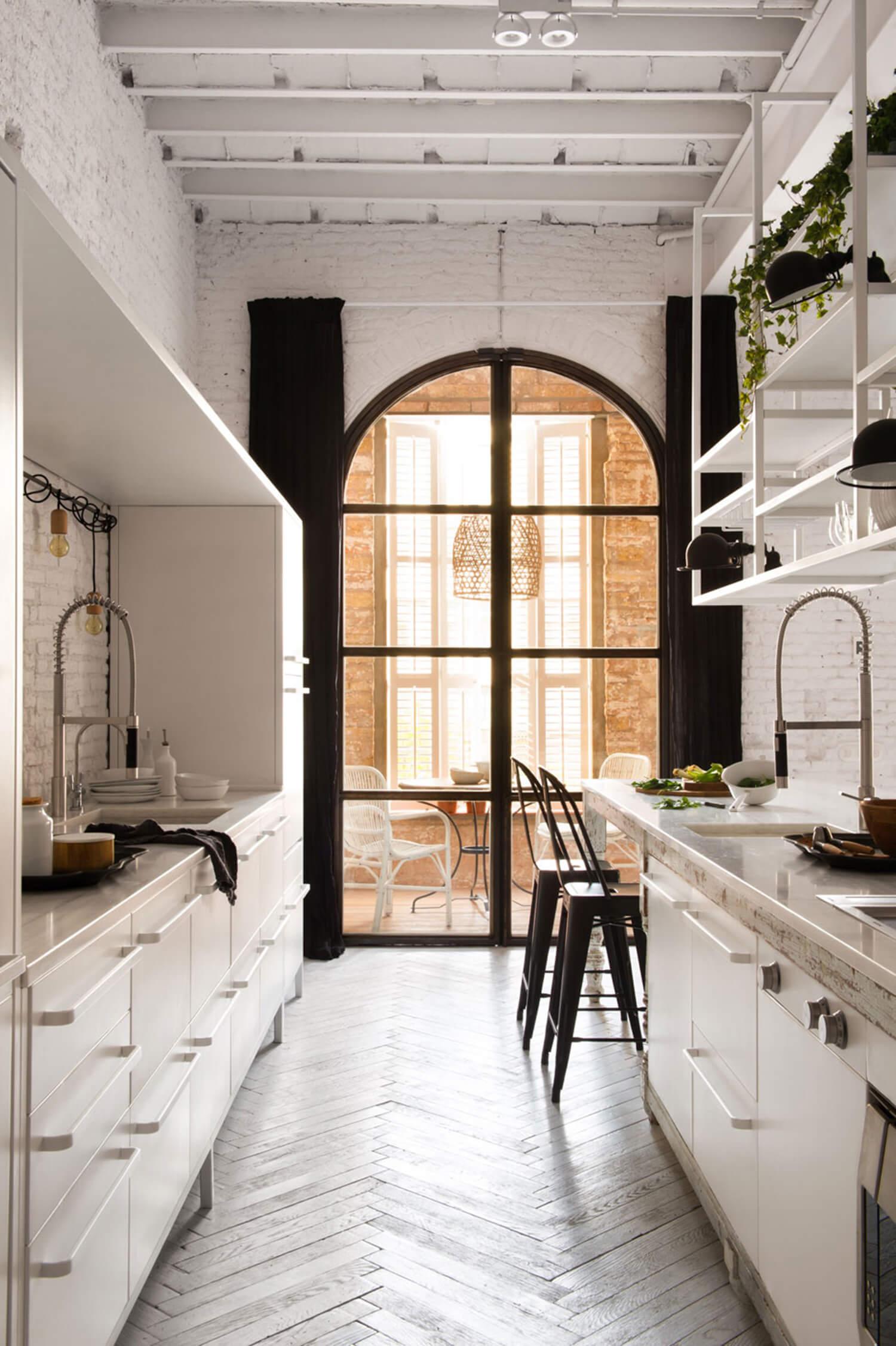 est living barcelona loft serrat tort architects kitchen