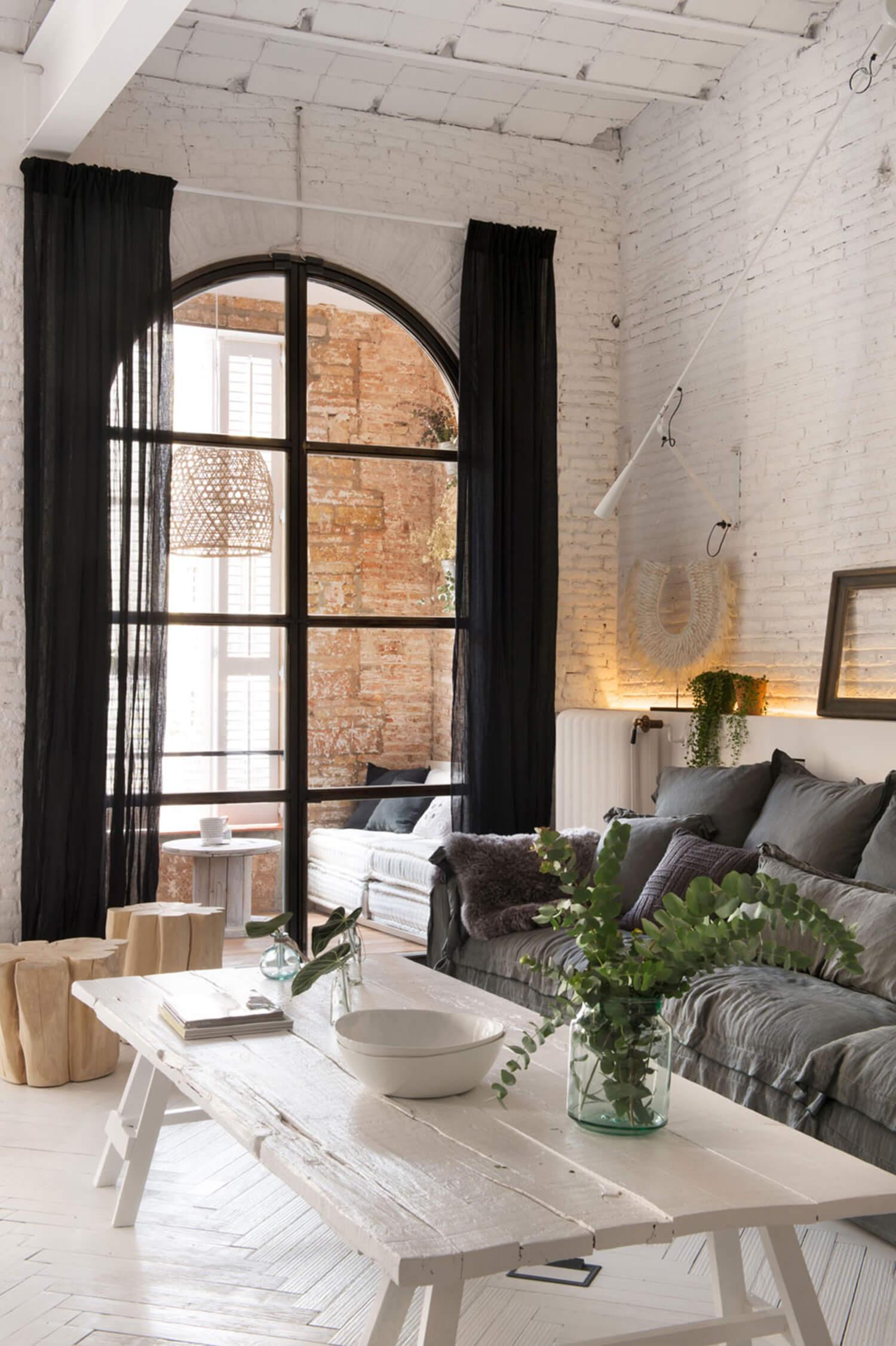 est living barcelona loft serrat tort architects living balcony