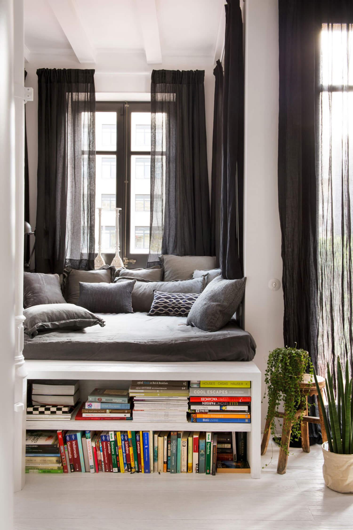 est living barcelona loft serrat tort architects reading nook