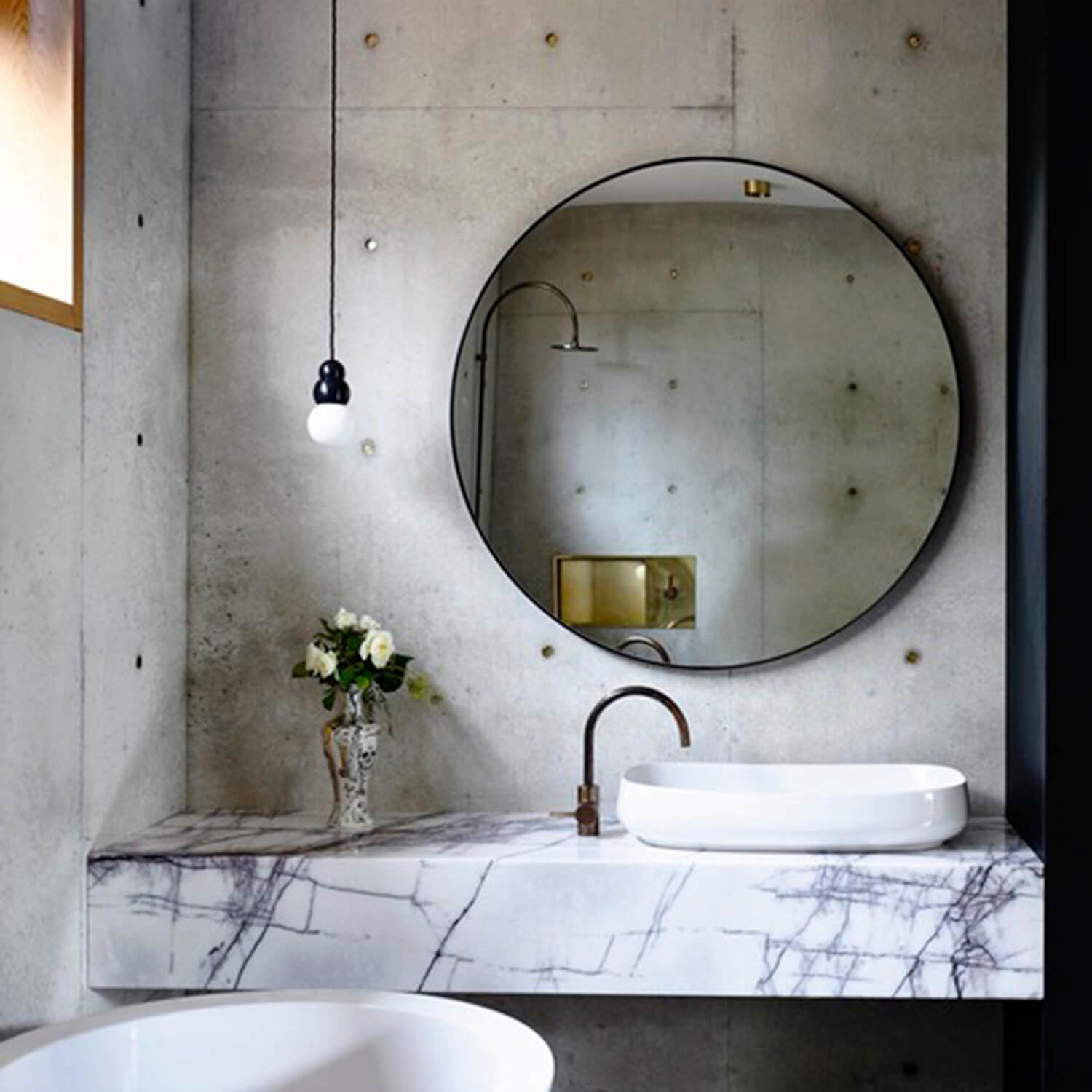 est living concrete house auhaus architects bathroom