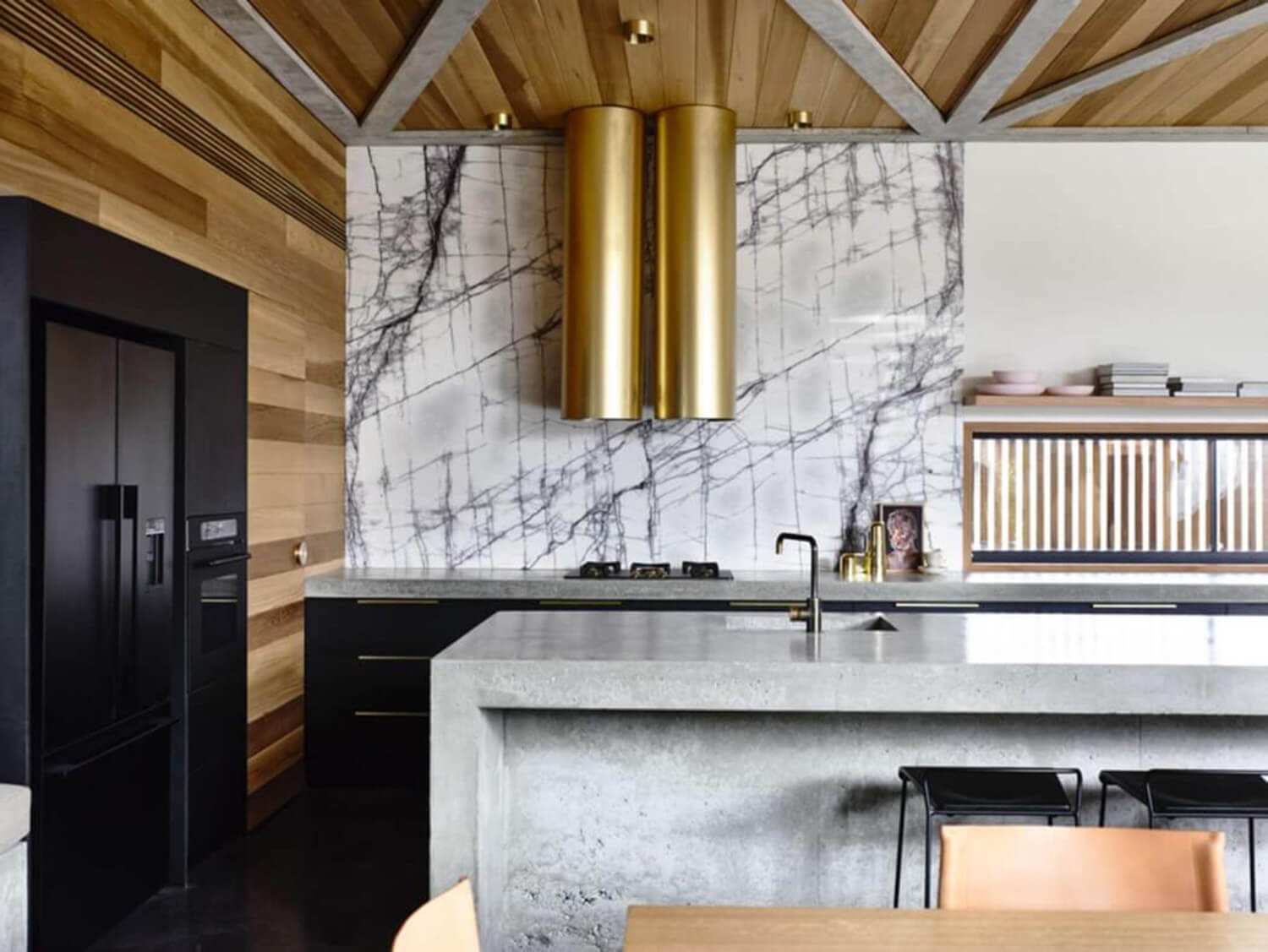est living concrete house auhaus architects kitchen