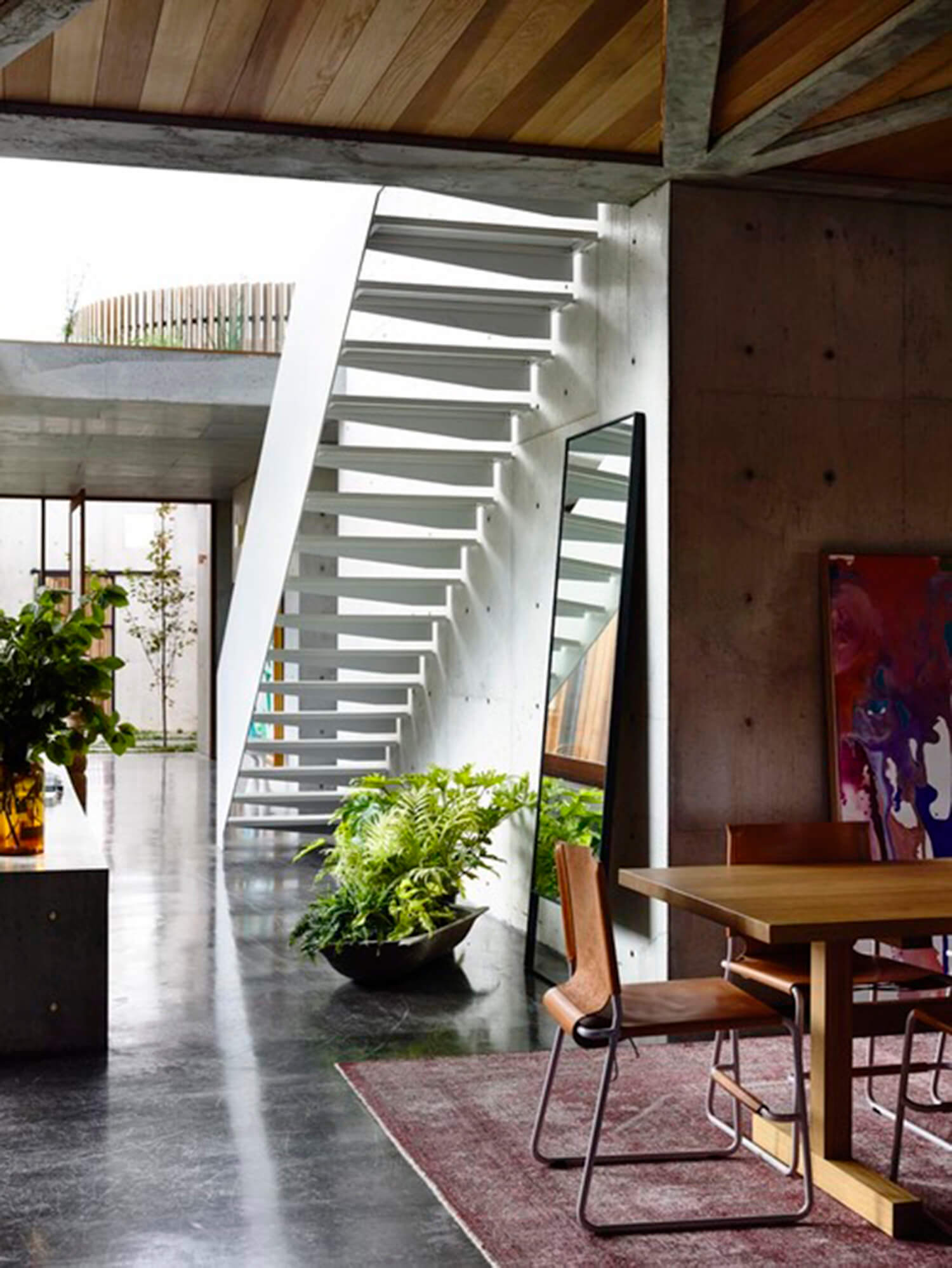 est living concrete house auhaus architects stairs
