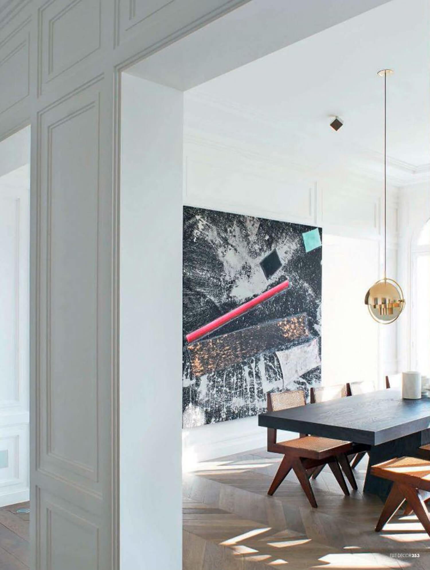 est living neuilly apartment joseph dirand dining