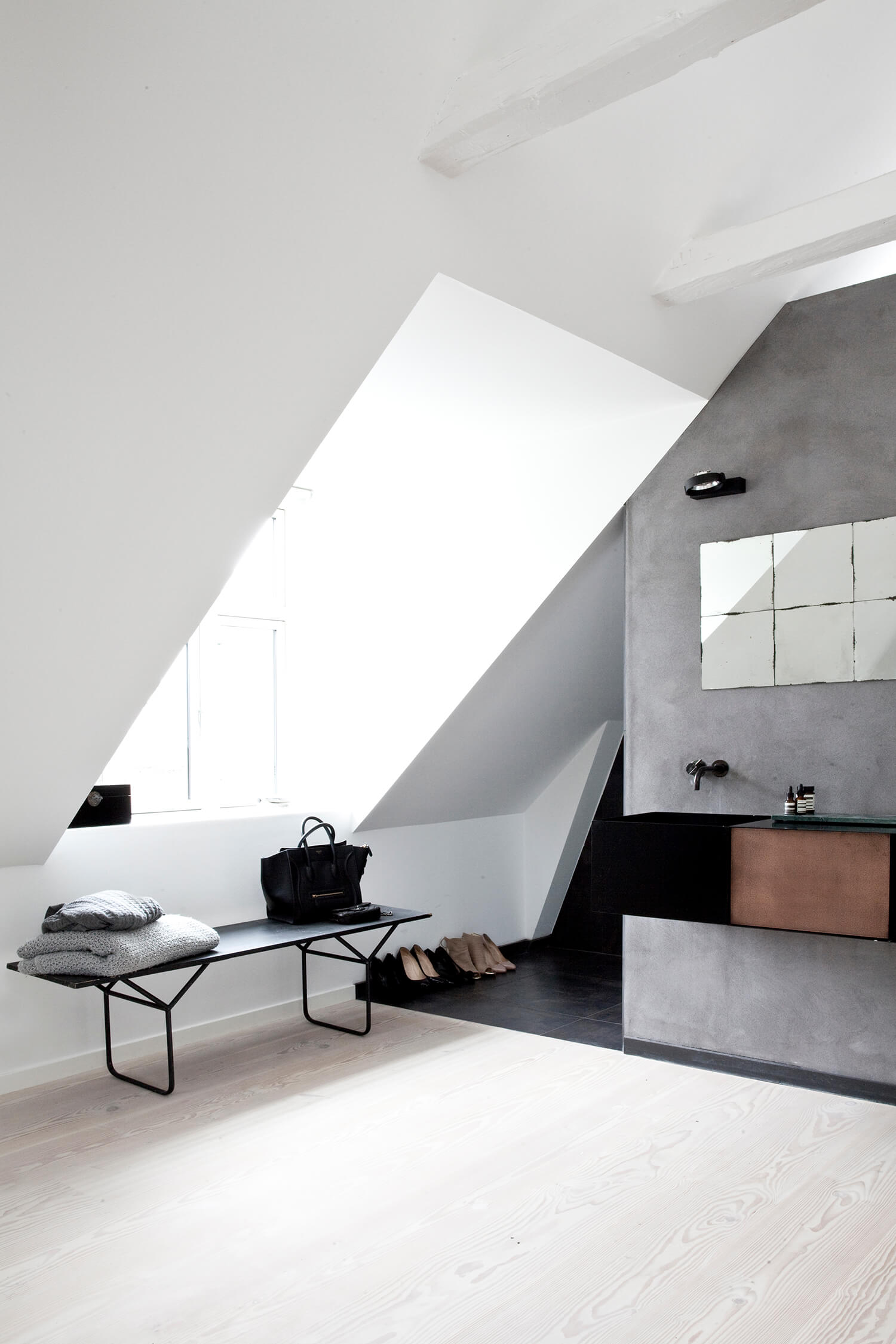 est living norm architects copenhagen attic bathroom