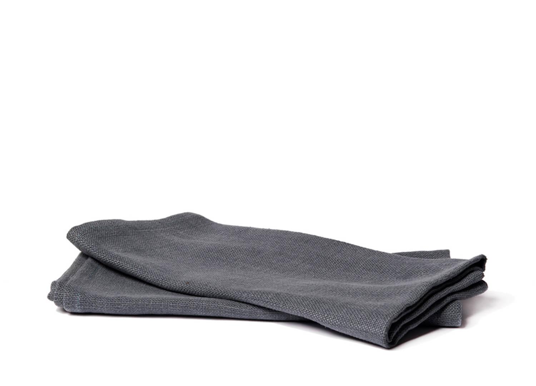 est essentials belgian linen napkins steel stack