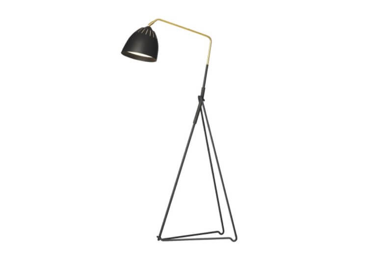 Lean Floor Light in Black Great Dane Furniture