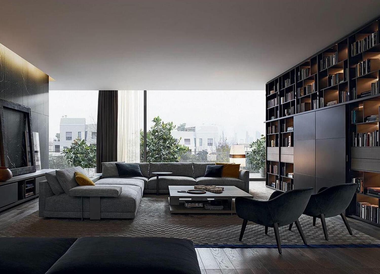 est living design directory wall system bookcase poliform.01