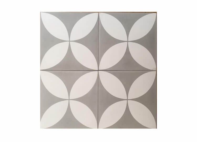 Grey Fleurs Tiles