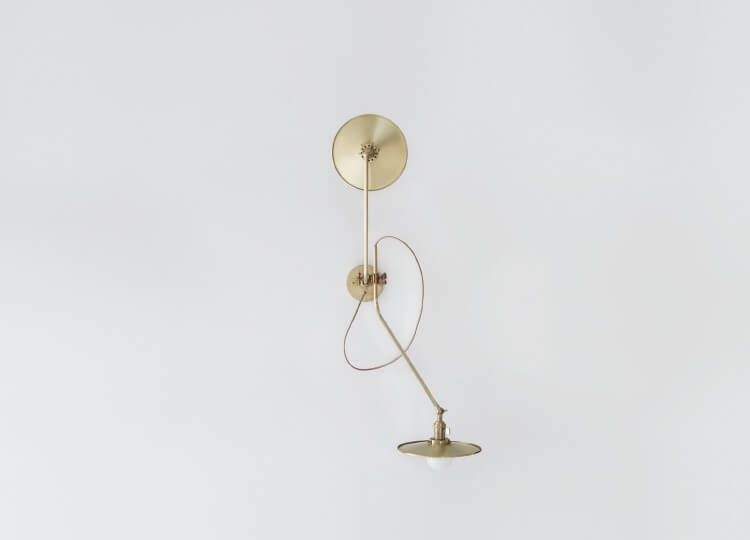 Brass Bent Wall Lamp