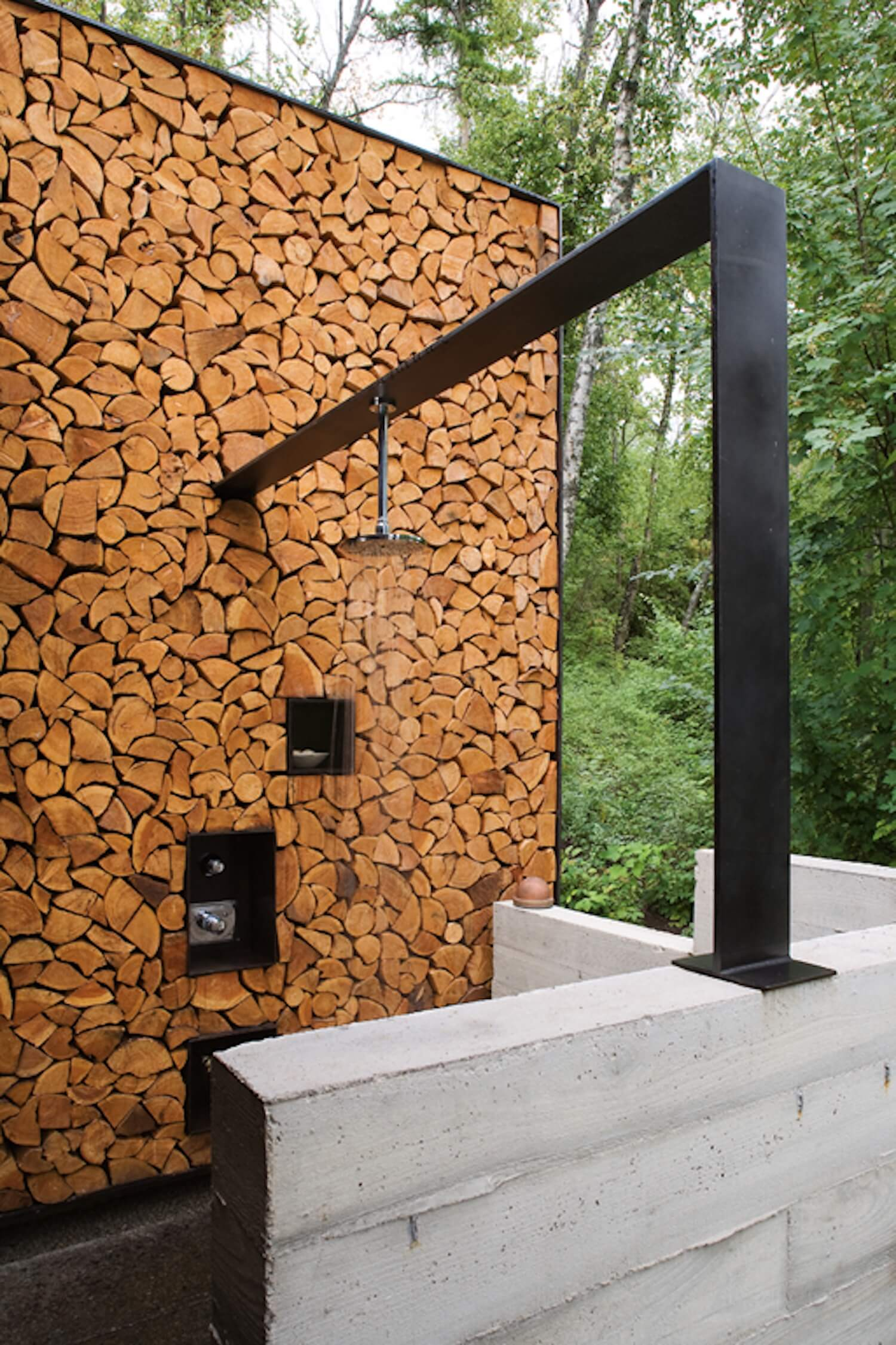 est living outdoor showers stringio cabin