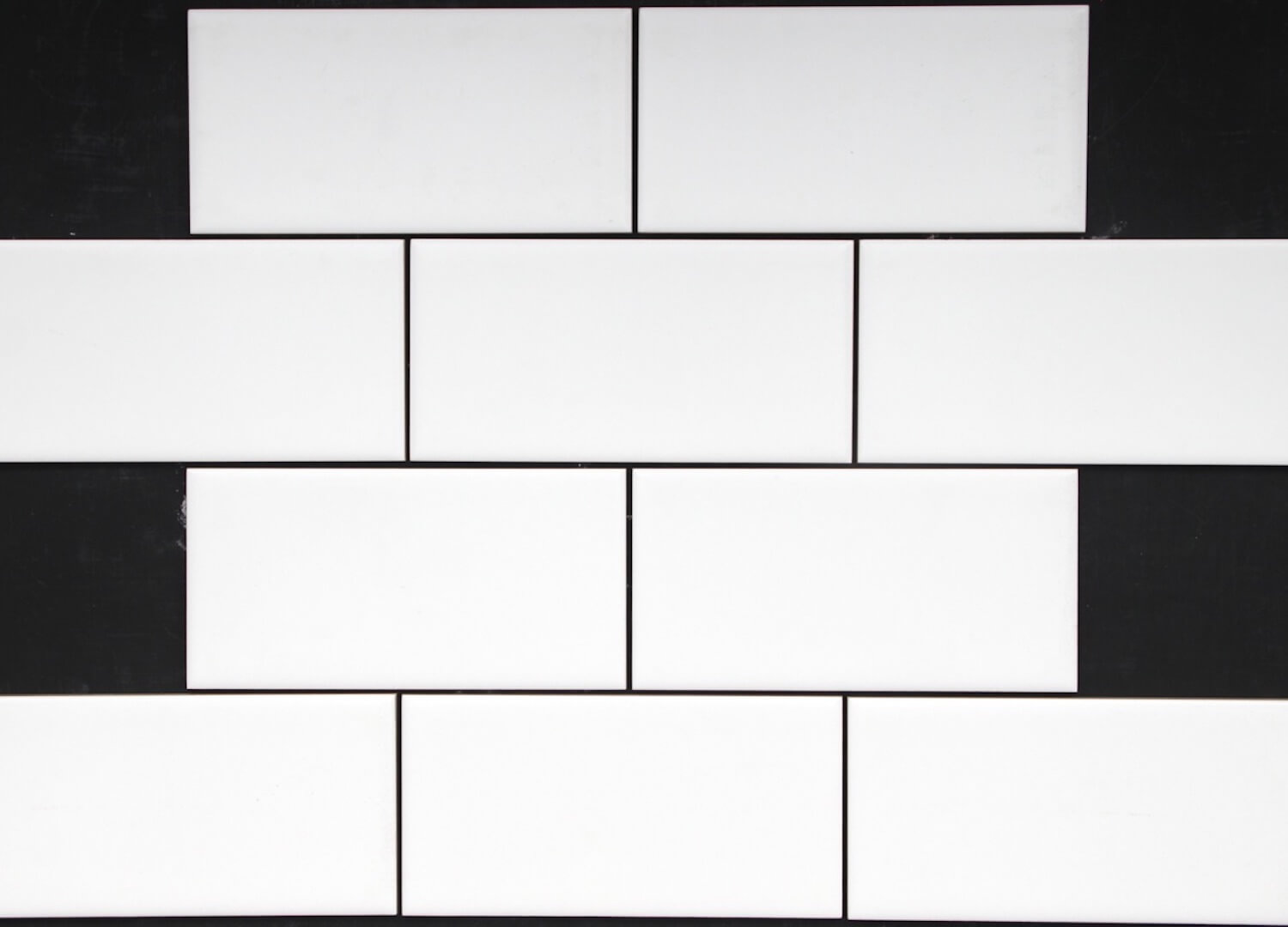 WHITE MATT SUBWAY TILE 150 X75 BYZANTINE DESIGN