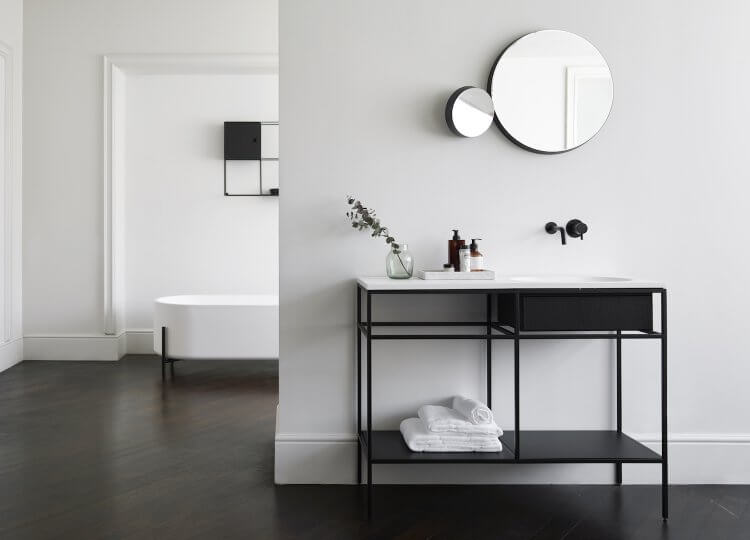 get the look statement bathrooms est living frame norm architects 1 750x540