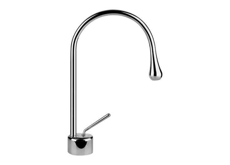 Goccia Basin Mixer with Spout Abey