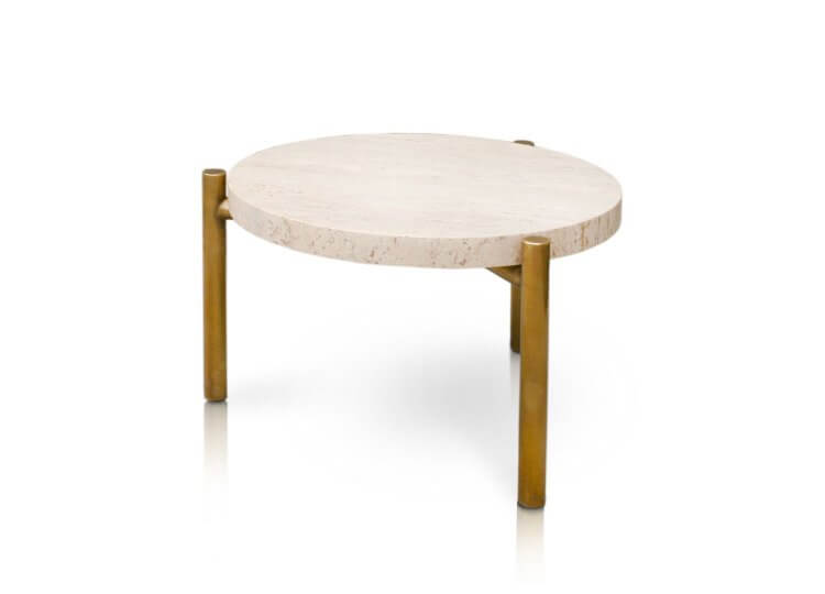 Ten10 Travertine Side Table