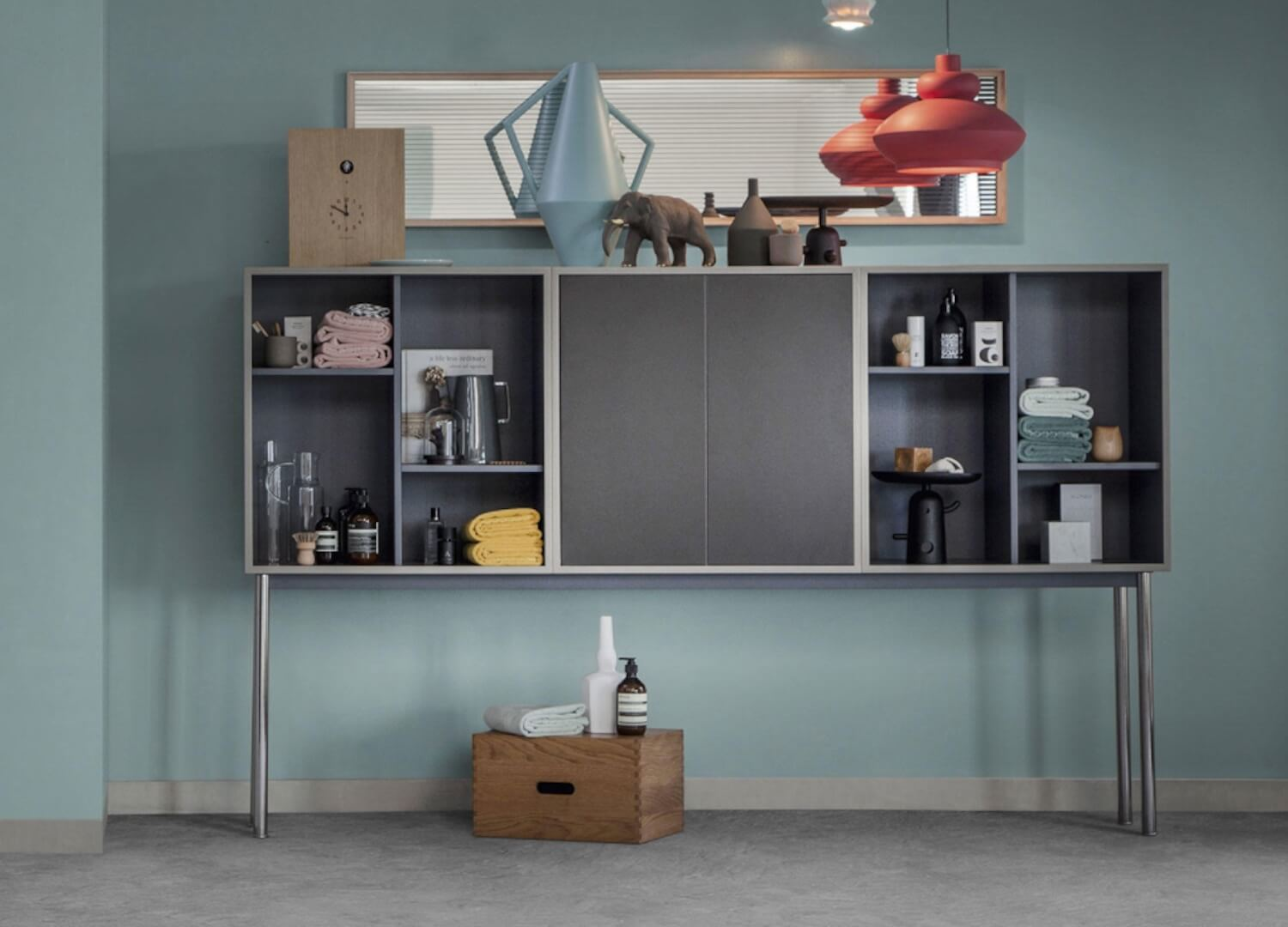 est living cassina casiers standard cupboards le corbusier