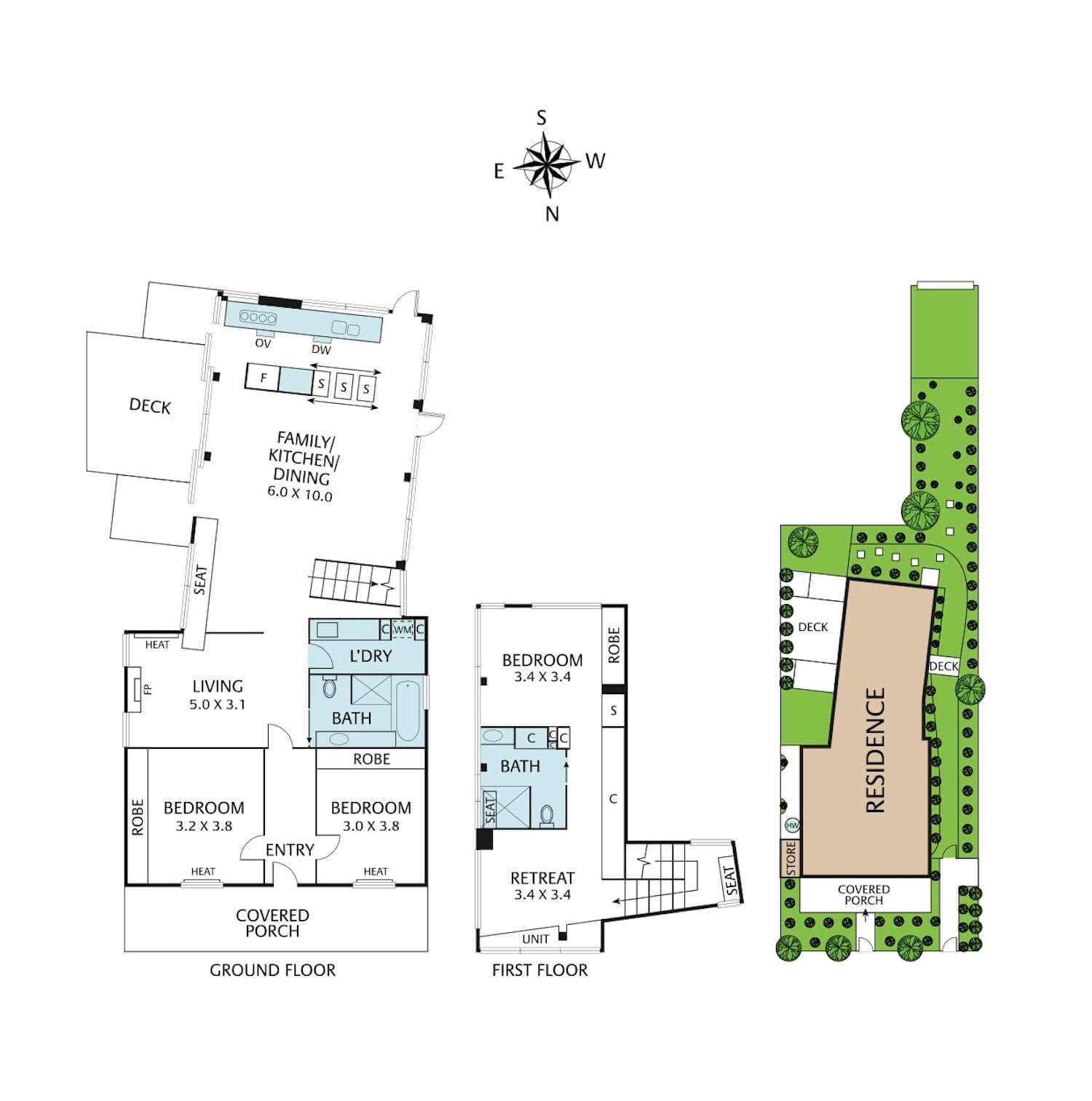 est living open house 228 edward street brunswick east floorplan