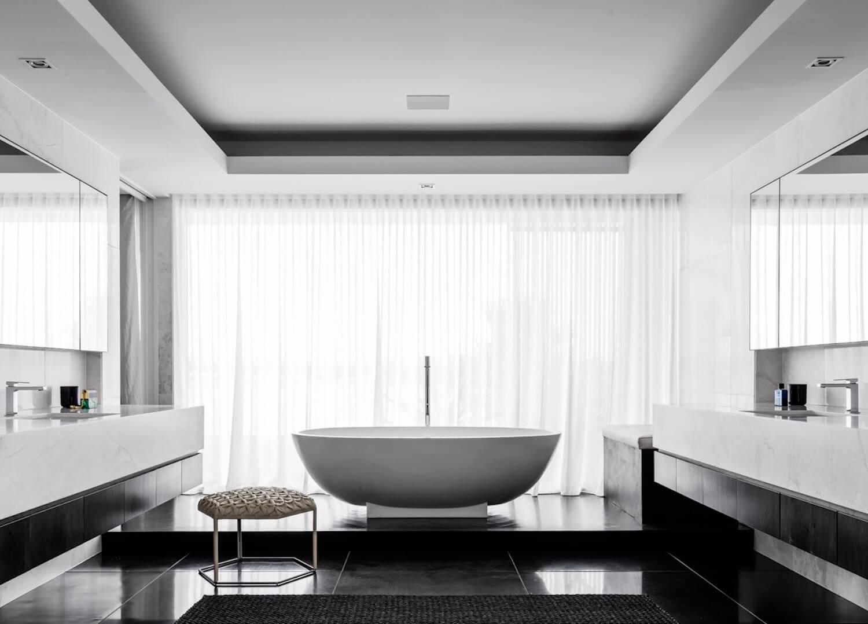 est living interiors monochrome house alwill interiors 13