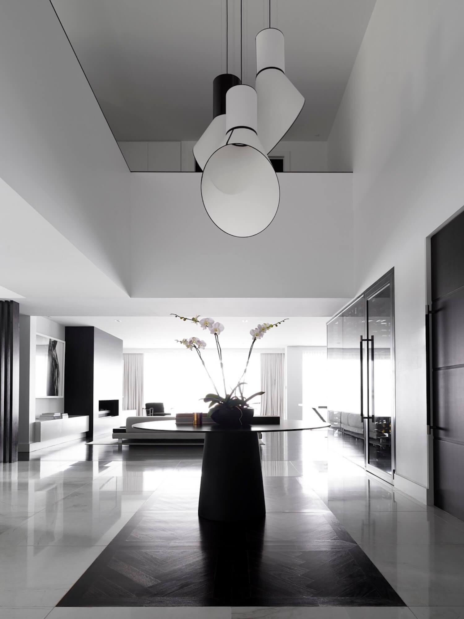 est living interiors monochrome house alwill interiors 3