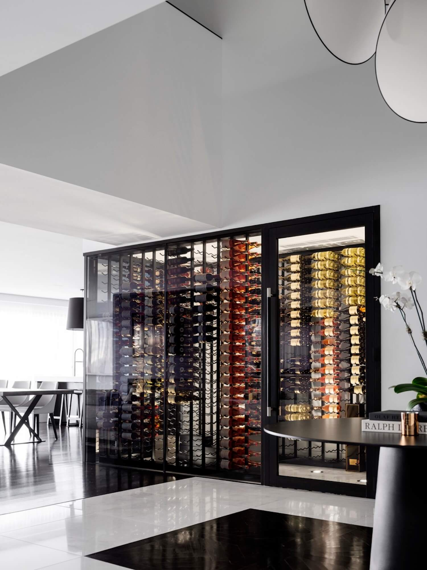 est living interiors monochrome house alwill interiors 7