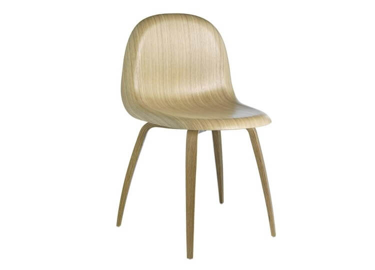 3D Wood Base Chair