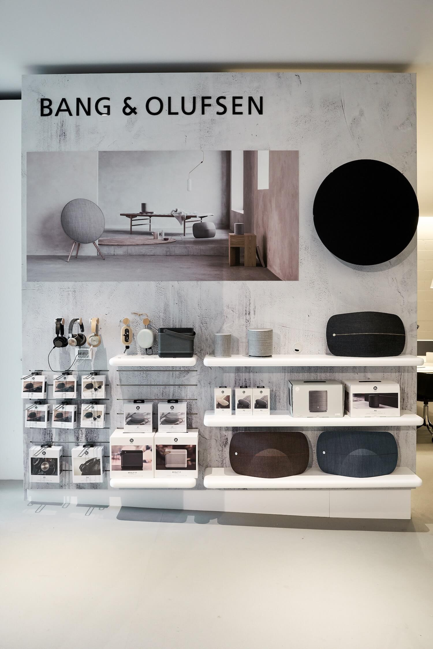 est living interiors commercial Cult Showroom Bang and Olufsen 1