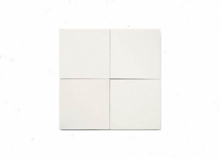 White Solid Square Tile Cle Tiles