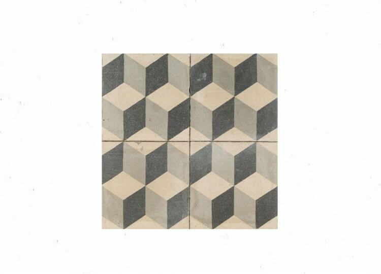 Cubist Antique Tile