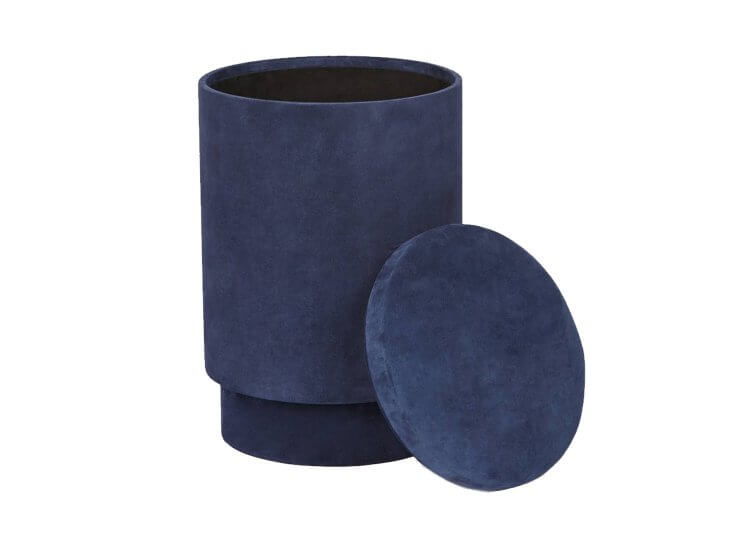 Suede Storage Stool The Line