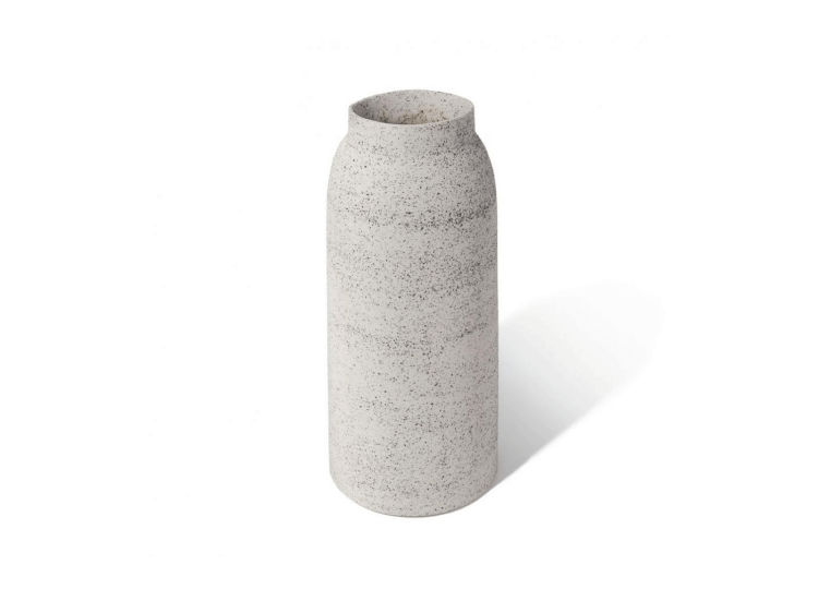 Vase Volcanic Medium Grey Lightly