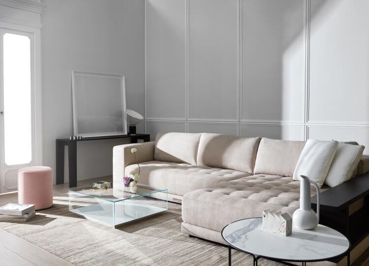 Living |  Feminine Minimalism Living Room