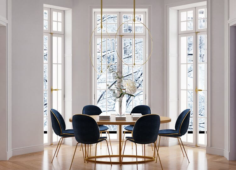 Dining | Parisian Style Dining Room by Crosby Studios