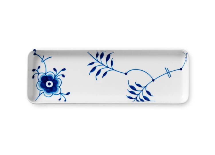 Blue Fluted Mega Rectangular Tray