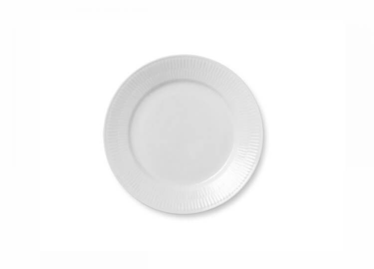White Fluted Plate Royal Copenhagen