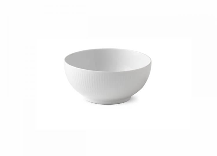 White Fluted Bowl