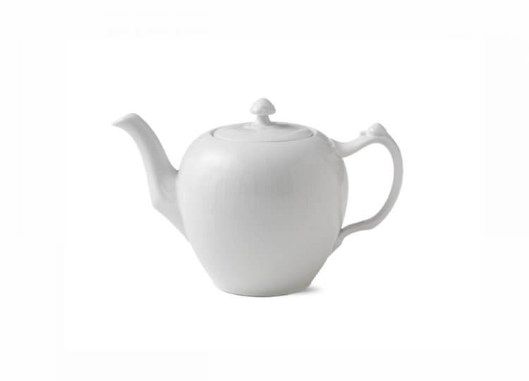 White Fluted Teapot Royal Copenhagen