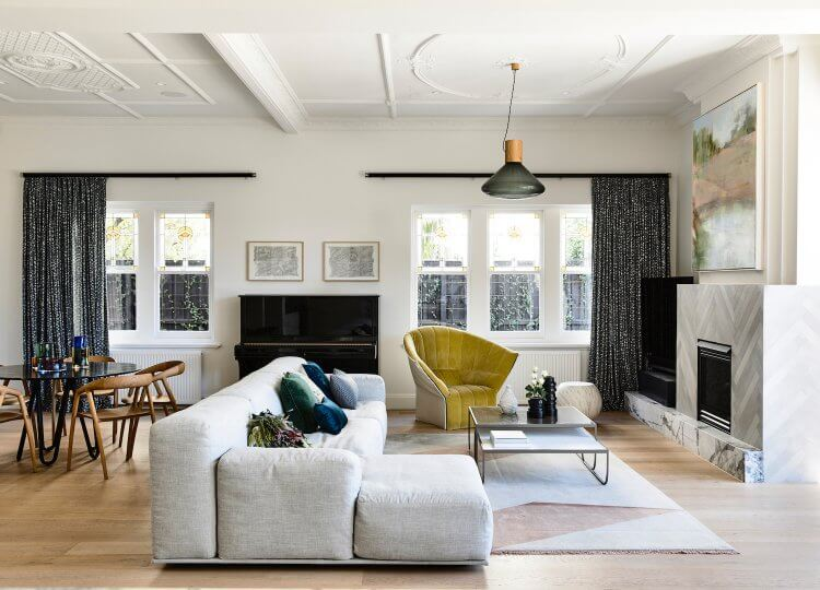 Living | Dickens Manor Living Room by Doherty Design Studio